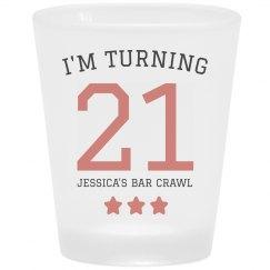 My Custom 21st Birthday Bar Crawl