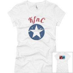 KfC distressed womens t-shirt