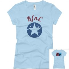 KfC distressed womens t-shirt