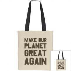 Make our planet great again brown bag.