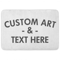 Add Art & Custom To A Text Bath Mat
