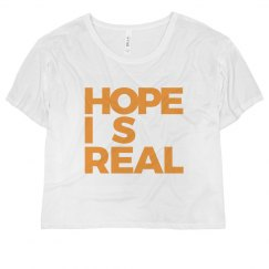 HOPE IS REAL CROPPED TEE