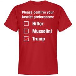 Donald Trump Fascist Preference