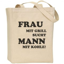 Frau Mit Grill Bag