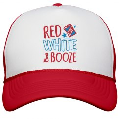 July 4th Red White & Booze Patriot