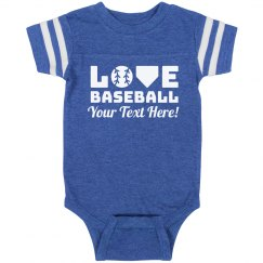 Baseball Cheerleader Baby Bodysuit