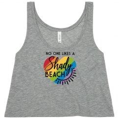 No one likes a shady beach - Crop top
