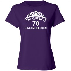 The queen is 70