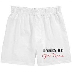 Taken By Girl Name Boxers
