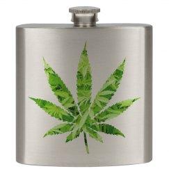 Weed Marijuana Flask