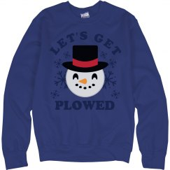 Let's Get Plowed Emoji Snowman