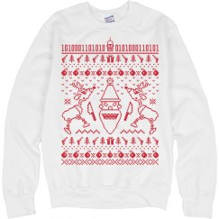 Santa and Reindeer Ugly Christmas Sweatshirt