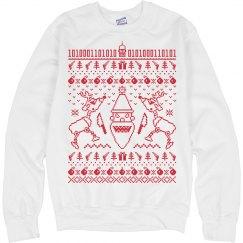 Santa and Reindeer Ugly Christmas Sweatshirt