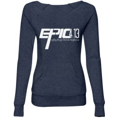 E.P.I.C. 4:13 - Women's Wideneck Sweatshirt with Pocket
