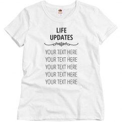 List of Life Updates
