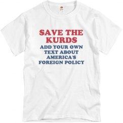 Save the Kurds Custom Message