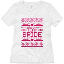 Team Bride Tshirt Ugly Christmas