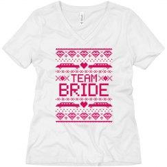 Team Bride Tshirt Ugly Christmas