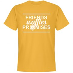 Friends Waffles Promises Simple Tee