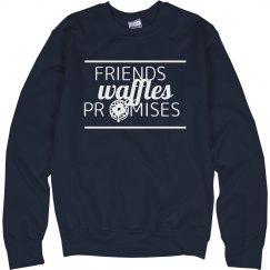 Friends Waffles Promises Sweater