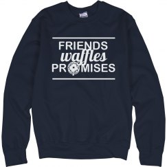 Friends Waffles Promises Sweater