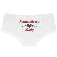 Namewhere's Baby Fun Heart Panties For Boyfriend