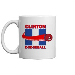 Clinton Dodgeball Coffee Mug