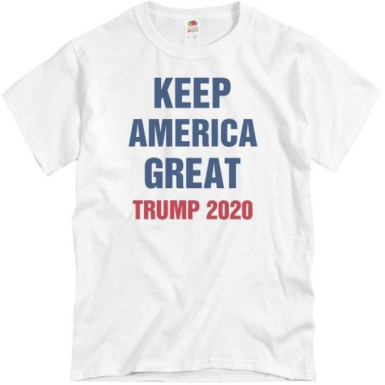 524e10624 Pres Trump 2020 Keep America Great Unisex Basic Promo T-Shirt