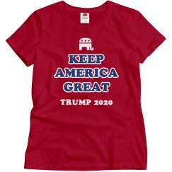 Ladies Republican Trump 2020 Tee