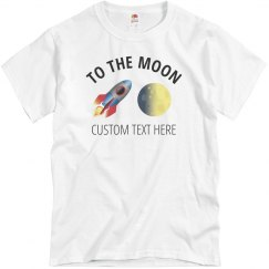 Stonks to the Moon Custom Tee