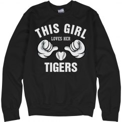 Girl loves her tigers