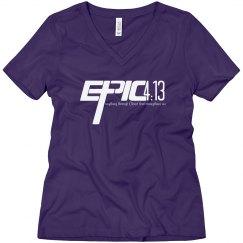 E.P.I.C. 4:13 - Women's V-Neck Shirt