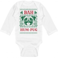Bah Hum-Pug Christmas Bodysuit