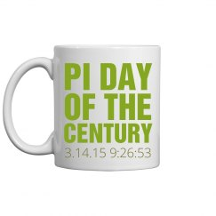 Pi Day Green Mug