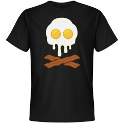 Bacon And Eggs Skull