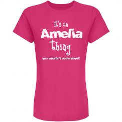 It's an Amelia thing