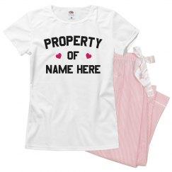 Property of Custom V-Day PJs