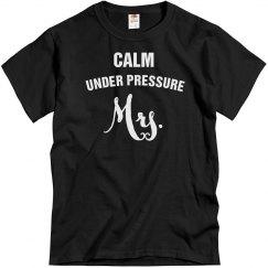 Calm under pressure Mrs