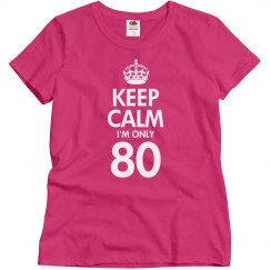 Keep calm I'm only 80