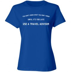 Travel Agent Shirt- White Lettering