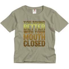 Mouth Closed Youth Basic Tee