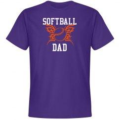 Purple Softball Dad Tshirt