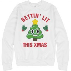 Getting Lit Christmas Ugly Sweater