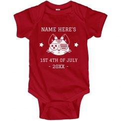 Custom Baby's 1st 4th Of July