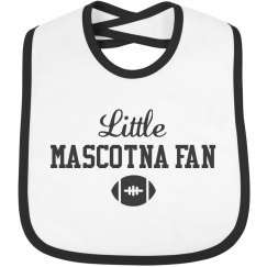 Little Mascotna Football Fan Bib