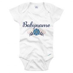 Blue Flower Baby Babyname