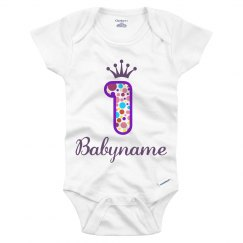 Babyname 1st Birthday Outfit
