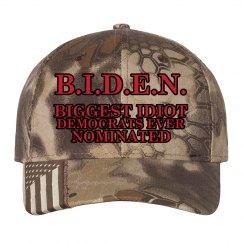 B.I.D.E.N. Biggest Idiot Camo Hat