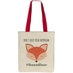 Fox and Luxe Logo Tote