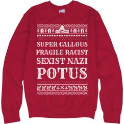 Fragile Racist Trump Ugly Sweater
